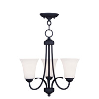 Livex 6473-04 Ridgedale 3 Light 18 inch Black Pendant/Ceiling Mount Ceiling Light