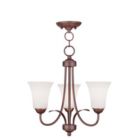 Livex Lighting Ridgedale 3 Light Pendant/Ceiling Mount in Vintage Bronze 6473-70