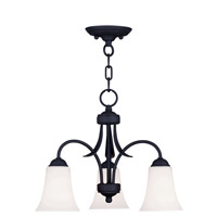 Livex Lighting Ridgedale 3 Light Pendant/Ceiling Mount in Black 6474-04