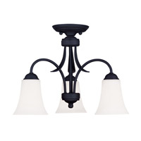 Livex Lighting Ridgedale 3 Light Pendant/Ceiling Mount in Black 6474-04 alternative photo thumbnail