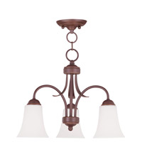 Livex Lighting Ridgedale 3 Light Pendant/Ceiling Mount in Vintage Bronze 6474-70