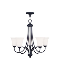 Livex Lighting Ridgedale 5 Light Chandelier in Black 6475-04