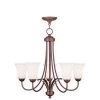 Livex Lighting Ridgedale 5 Light Chandelier in Vintage Bronze 6475-70