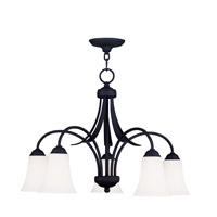 Livex Lighting Ridgedale 5 Light Chandelier in Black 6476-04