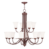 Livex Lighting Ridgedale 12 Light Chandelier in Vintage Bronze 6477-70