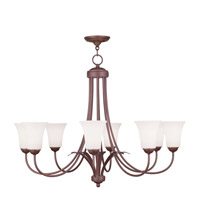 Livex Lighting Ridgedale 8 Light Chandelier in Vintage Bronze 6478-70