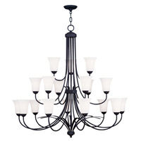 Livex Lighting Ridgedale 18 Light Chandelier in Black 6479-04