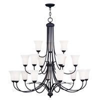 Livex 6479-04 Ridgedale 18 Light 44 inch Black Chandelier Ceiling Light