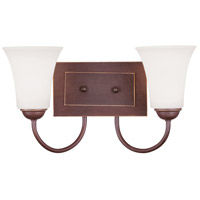 Ridgedale 2 Light 15 inch Vintage Bronze Bath Light Wall Light