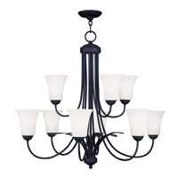 Livex Lighting Ridgedale 9 Light Chandelier in Black 6489-04