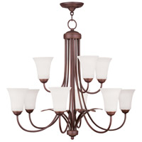 Livex 6489-70 Ridgedale 9 Light 30 inch Vintage Bronze Chandelier Ceiling Light
