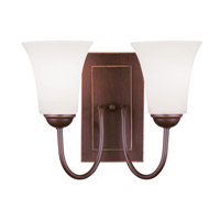 Livex Lighting Ridgedale 2 Light Wall Sconce in Vintage Bronze 6492-70