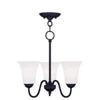 Livex Lighting Ridgedale 3 Light Pendant/Ceiling Mount in Black 6503-04