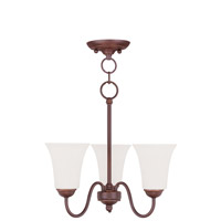 Livex Lighting Ridgedale 3 Light Pendant/Ceiling Mount in Vintage Bronze 6503-70