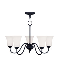 Livex Lighting Ridgedale 5 Light Chandelier in Black 6505-04