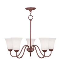 Livex Lighting Ridgedale 5 Light Chandelier in Vintage Bronze 6505-70