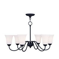 Livex Lighting Ridgedale 6 Light Chandelier in Black 6506-04