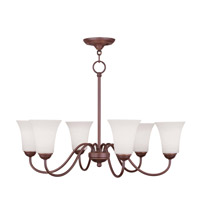 Livex Lighting Ridgedale 6 Light Chandelier in Vintage Bronze 6506-70