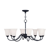Livex Lighting Ridgedale 8 Light Chandelier in Black 6508-04