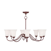 Livex Lighting Ridgedale 8 Light Chandelier in Vintage Bronze 6508-70