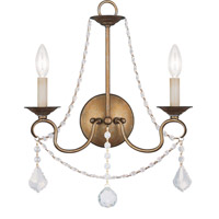 Livex Lighting Pennington 2 Light Wall Sconce in Antique Gold Leaf 6512-48