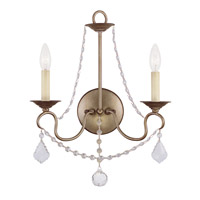 Livex Lighting Pennington 2 Light Wall Sconce in Antique Silver Leaf 6512-73