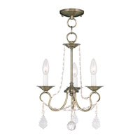 Livex Lighting Pennington 3 Light Pendant/Ceiling Mount in Antique Brass 6513-01