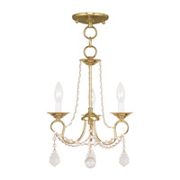 Livex Lighting Pennington 3 Light Pendant/Ceiling Mount in Polished Brass 6513-02