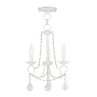 Livex Lighting Pennington 3 Light Pendant/Ceiling Mount in Antique White 6513-60
