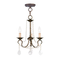 Livex Lighting Pennington 3 Light Pendant/Ceiling Mount in Venetian Golden Bronze 6513-71