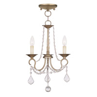 Livex Lighting Pennington 3 Light Pendant/Ceiling Mount in Antique Silver Leaf 6513-73