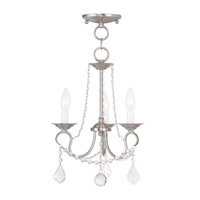 Livex Lighting Pennington 3 Light Pendant/Ceiling Mount in Brushed Nickel 6513-91
