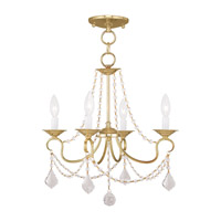 Livex Lighting Pennington 4 Light Pendant/Ceiling Mount in Polished Brass 6514-02