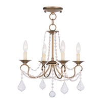 Livex Lighting Pennington 4 Light Pendant/Ceiling Mount in Antique Gold Leaf 6514-48