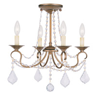 Livex Lighting Pennington 4 Light Pendant/Ceiling Mount in Antique Gold Leaf 6514-48 alternative photo thumbnail
