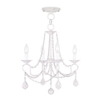 Livex Lighting Pennington 4 Light Pendant/Ceiling Mount in Antique White 6514-60