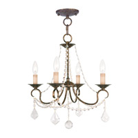 Livex Lighting Pennington 4 Light Pendant/Ceiling Mount in Venetian Golden Bronze 6514-71