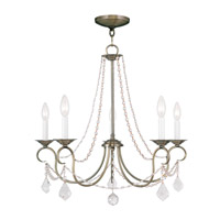 Livex Lighting Pennington 5 Light Chandelier in Antique Brass 6515-01