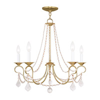 Livex Lighting Pennington 5 Light Chandelier in Polished Brass 6515-02