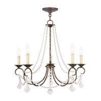 Pennington 5 Light 25 inch Venetian Golden Bronze Chandelier Ceiling Light