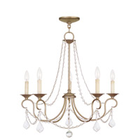 Livex 6515-73 Pennington 5 Light 25 inch Antique Silver Leaf Chandelier Ceiling Light