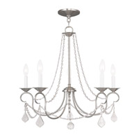 Livex 6515-91 Pennington 5 Light 25 inch Brushed Nickel Chandelier Ceiling Light