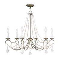 Livex 6516-01 Pennington 6 Light 28 inch Antique Brass Chandelier Ceiling Light