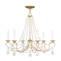 Pennington 6 Light 28 inch Polished Brass Chandelier Ceiling Light