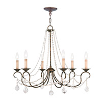 Pennington 6 Light 28 inch Venetian Golden Bronze Chandelier Ceiling Light