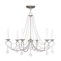 Livex 6516-91 Pennington 6 Light 28 inch Brushed Nickel Chandelier Ceiling Light