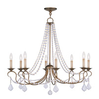 Pennington 8 Light 34 inch Antique Gold Leaf Chandelier Ceiling Light