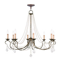 Livex 6518-71 Pennington 8 Light 34 inch Venetian Golden Bronze Chandelier Ceiling Light