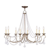 Livex Lighting Pennington 8 Light Chandelier in Antique Silver Leaf 6518-73