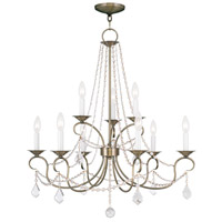 Livex Lighting Pennington 9 Light Chandelier in Antique Brass 6519-01